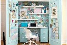 Scrapbooking Nooks / Corner cupboard or cupboard hideaways