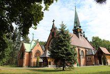 Kościół parkowy / Kościół Dobrego Pasterza w świerklanieckim parku