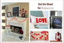 Valentine's Day Decor / Whether you are sharing the love during Valentine's Day with your family, friends or significant others, create an air of romance and warmth at the most inviting space in your home—around your fireplace.