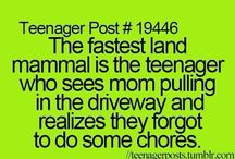 Teenager posts / This is about life as a teenager and what actually happens but turns out to really funny instead