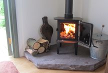 Sitting room log burner
