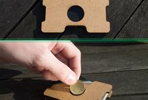 Wood Wallet Walllab / A nice wallet laser cut in wood with leather inside / by Walllab