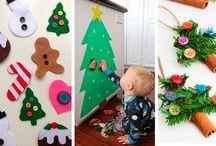 Decoração de Natal com crianças