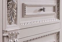 ornamental wood mouldings / applications of carved wood mouldings on furniture and interior furnishing