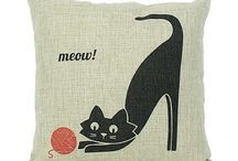 Cat throw pillow / cat throw pillow for home decoration,18*18 in couch cushions .