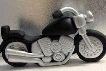 cake motocycle fondant