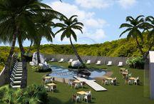 Pasisajismo. / Landscaping. / Paisajismo realizado en #PiscinasDeArena para Private Beach®. / Landscaping made in #SandSwimmingPools for Private Beach®.