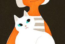 Cats and people in art | mensen en katten in de kunst