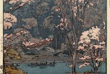 Hiroshi Yoshida 博吉田 / Hiroshi Yoshida 博吉田 (September 19, 1876 - April 5, 1950) was a 20th-century Japanese painter and woodblock print maker. He is regarded as one of the greatest artists of the shin-hanga style, [...] Yoshida travelled widely, and was particularly known for his images of non-Japanese subjects done in traditional Japanese woodblock style, including the Taj Mahal, the Swiss Alps, the Grand Canyon, and other National Parks in the USA.  http://en.wikipedia.org/wiki/Hiroshi_Yoshida