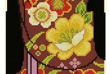cross stitch gesha