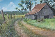 old barn paintings