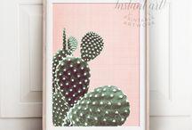 Cactus prints / Cactus art, cactus printable art, cactus decor, cactus wall art