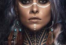 tribal makeup