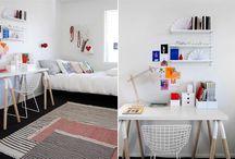 Habitaciones juveniles con espacio de trabajo