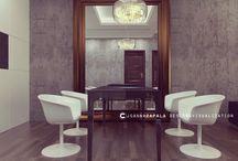 Salon Kamienice Herbowe Kraków / modern livingroom /  #designlivingroom #interiordesign #visualization3D #architecture #apartament #concrete #modern architecture  #design — w: #Kraków #joannazapala