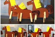 koně / tvoření s dětmi