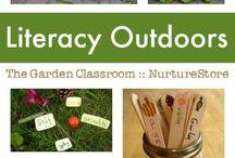 Garden Classroom / garden based/outdoor learning ideas