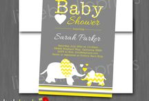 Baby Shower: Yellow and Grey / Yellow and grey baby shower ideas