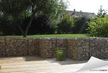 Terrasse gabion