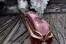 Cool vintage trains