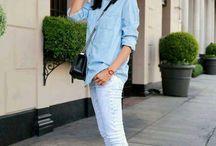 голубой в летней одежде
