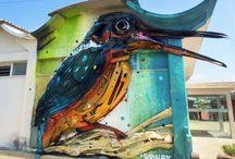 Искусство улиц или Street Art / Вдохновляющие картины, где в качестве полотен используются стены больших и маленьких  городов!