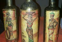 botellas recicladas decoradas