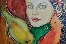 painting by Lesja Borisenkova (Les.Bo) / painting, drawing, art, watercolors, mixed painting
