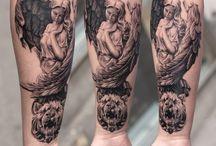 Angyal tattoo