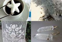 Winter / Inspiration Board of Handmade & Vintage Items