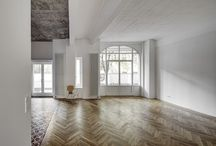 herringbone / Floors, tiling and other surfaces featuring herringbone patterns.