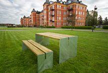 Park och Gatumiljö / #Park #Gata #Utemiljö #Parkmöbler #Parkbänk #Bord