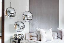 metallic feature wall