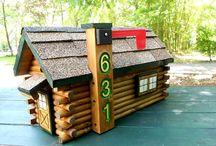 Log Cabin Mailboxes