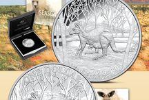 Australian Animal coins / Münzen der Tierwelt aus Australien / Australian Amimal coins distributed by EMK /Mümzen der Tierwelt aus Australien im Angebot bei EMK.