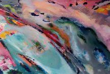 eigen schilderwerk / Met wolken 150 cm x 50 cm