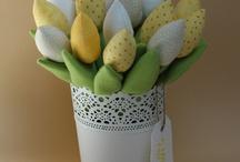 šití květinky