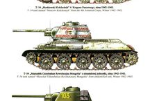 Russian tanks colors