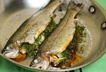 Fish Recipes / Hearty healthy fish recipes. From poached branzino to broiled salmon and everything in between. Lots of gluten-free and dairy-free fish recipes.
