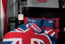 British themed bedroom