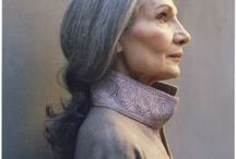Ladies in Gray / Beautiful women aging naturally, wrinkles and gray hair abound. / by Katie Kukulka