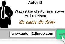 Autor12 wszystkie oferty finansowe / Wszystkie informacje i oferty finansów osobistych i firmowych w 1 miejscu.Od kredytów i pożyczek po ubezpieczenia i faktoring sprawdz