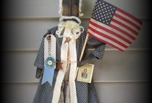 PRIMITIVE  AMERICANA FOLK ART / FOLK ART AMERICANA DOLL EMAIL FOR INFO MOST ONE OF A KIND