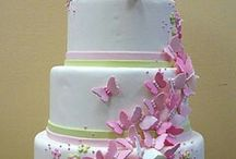 Wedding cake white & gold ideas and Pictorial. ..