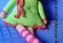 crochet square dolls