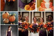 Purple, orange, yellow wedding / Themed purple, orange, yellow wedding