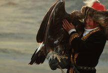 Girl and Her Eagle