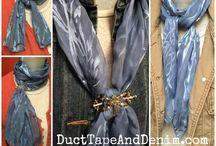 Завязывание шарфов, платков