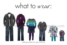 What to Wear  Family look: outfit sample board