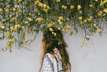 portraits in flowers